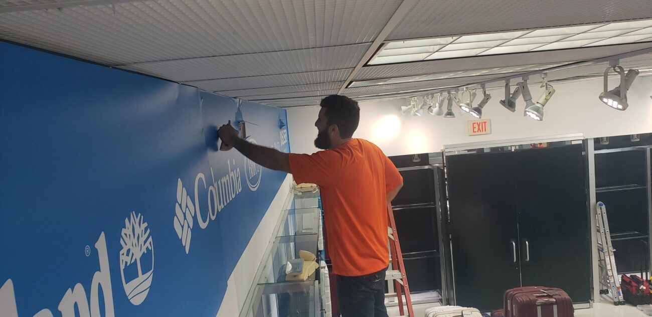 Virginia Wall vinyl graphics installation