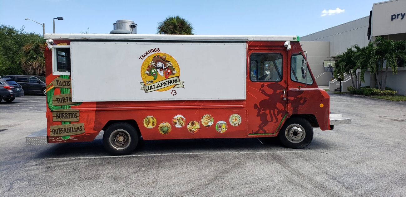 Vinyl food truck wrap